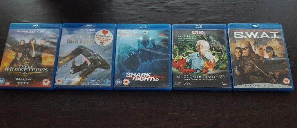 Bundle of 3D blu ray films,blu ray