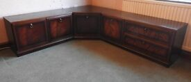 **REDUCED** TV and Storage Units - 2 tone wood