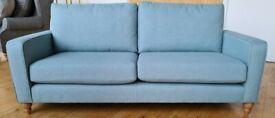 Brand New Next Lingard Large Sofa (3 Seats) Tweedy Blend Light Teal
