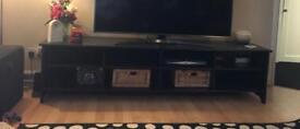 Ikea Hemnes black brown TV bench/storage unit