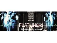 Flatliners vinyl poster for sale in good condition. 3 meters long and 1 meter high.
