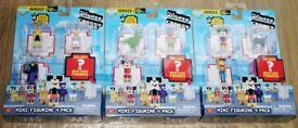 3 Disney Crossy Road Mini Figure Packs (sealed)