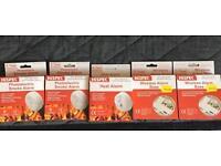 Smoke alarms and heat alarm