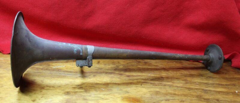 "Antique Rare 22"" Gabrielo Trumpet Air Horn Copper Rat Rod"