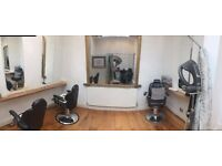 Beautiful independent area with 3 stylig chairs available for small hair or beauty business