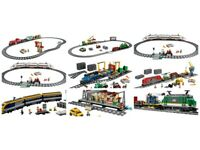 I'm buying complete or incomplete Lego train sets.