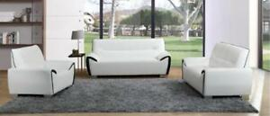 LORD SELKIRK FURNITURE - Moonstar 3Pc Couch Set - Sofa, Loveseat and Chair - White & Black - $1599.00