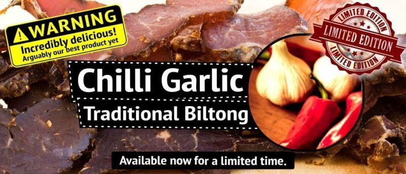 "Traditional Biltong - ""Chilli Garlic"" flavour"
