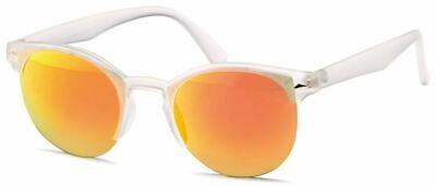 GD Sonnenbrille Clubmaster Matte Transparent / Orange Mirror verspiegelt Händler