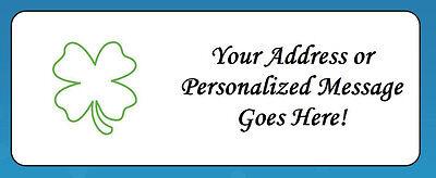 60 Shamrock St. Patrick's Day Personalized Return Address Labels