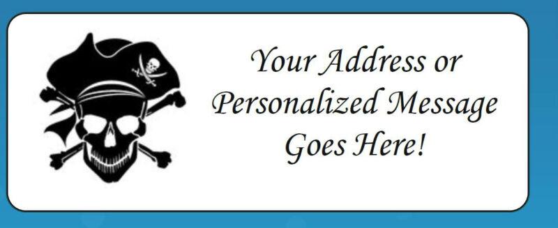 60 Personalized Pirate Theme Return Address Labels