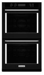 """KITCHENAID NEW KODE507EBL 27""""DOUBLE,4.3 CU FT+4.3 CU FT,TRUE CONVECTION,SELF CLEAN,FIT SYSTEM,DOUBLE WALL OVEN(BD-1545)"""