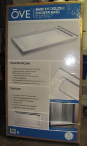Ove 32-in W x 60-in L White Acrylic Shower Base _ NEW