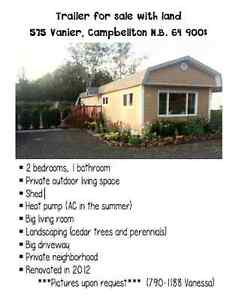 Mini home trailer for sale with land
