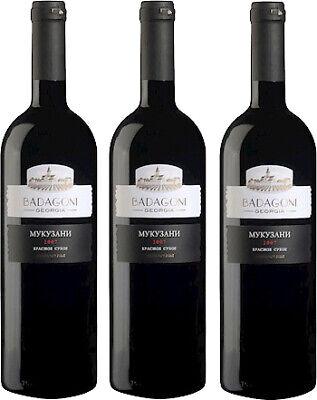 Badagoni Mukuzani Rotwein aus Georgien trocken 6 x 0,75L. 13% vol. Вино Мукузани