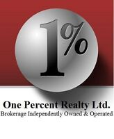 One Percent Realty is looking for agents who want to get busy!