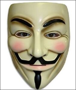 FAWKES FACE MASK - ANONYMOUS - V FOR VENDETTA