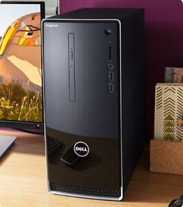 Dell Inspiron 3668 Desktop Computer & 24-inch Gateway Monitor