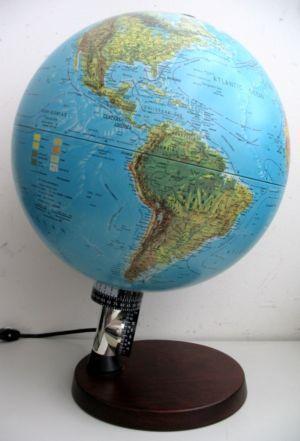 Vintage Lighted World Globe Ebay