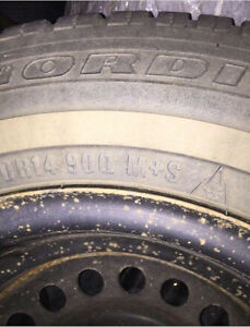 PRICE DROP: 4 Winter Tires W/ Rims - 195/70R14 Regina Regina Area image 3