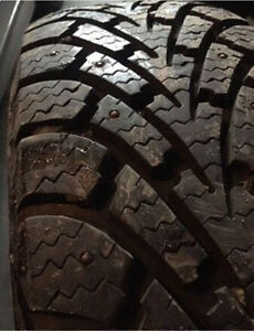 4 205/70R15 GoodYear Studded Winter Tires