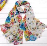 Womens White Scarf
