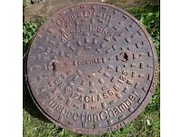 DRAIN or MANHOLE COVER & FRAME.