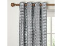 John Lewis Patterned Eyelet Lined Curtains