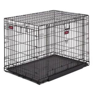 X Folding Double Door Dog Crate Ontario