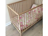 Cot, baby changing stations, clothes, toys, baby gate, high chair, etc.