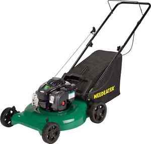 Weed eater push mower and weed wacker