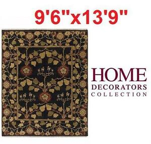 "NEW* HDC PATRICIAN AREA RUG 9'6""x13'9"" - JAVA - HOME DECORATORS COLLECTION Home Flooring Living Dining ROOM"