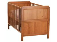 Child's Hardwood Cot with Mattress