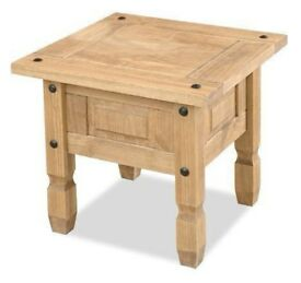 New Solid Cheap Corona Mexican Pine lamp table £49 IN STOCK NOW