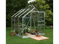 6x6 Halls Popular Greenhouse - Horticultural Glass