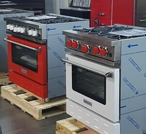 "https://aniks.ca BlueStar Professional 30"" White and 36"" Red Color Gas Rang  Aniks Appliances Toronto (416) 755 1677"