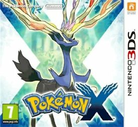 Pokemon X 3DS game, boxed with manual. Savegame wiped ready for new gamer.