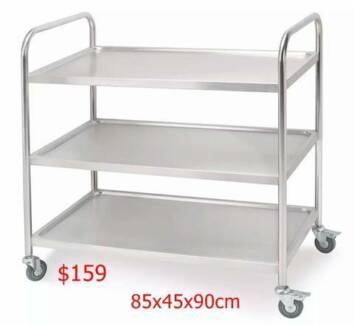 New Stainless Steel Trolley Cart for cafe shop bakery