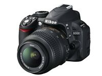 Nikon D3100 Digital SLR Camera with 18-55mm VR Lens Kit (14.2MP), including x2 chargers & carry case