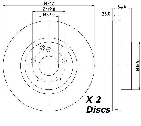EBC 312mm FRONT TURBO GROOVE GD DISCS REDSTUFF PADS KIT SET PD12KF184