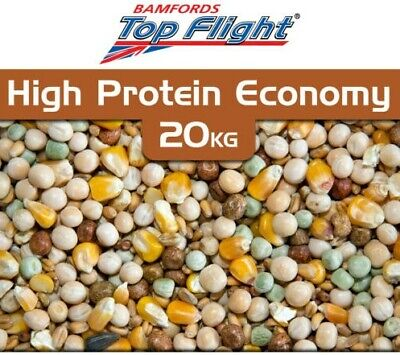 High Protein Pigeon Food Economy Seed Bamfords Top Flight Pigeons 20kg BMFD DS