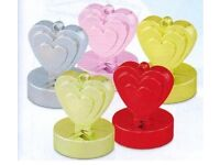Gold Heart Balloon Weights for Helium Balloons- Parties and Celebrations