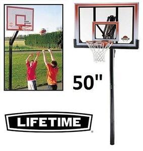 "NEW* LIFETIME BASKETBALL NET 50"" IN-GROUND BASKETBALL  › Team Sports › Basketball › Backboards › In-Ground Boards"