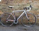 Silver felt racing road bike