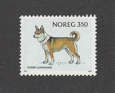 Dog Art Body Study Portrait Postage Stamp NORWEGIAN LUNDEHUND Norway 1983 MNH