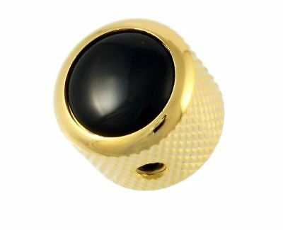 Q-Parts Gold Black Knobfor Electric Guitar and Bass