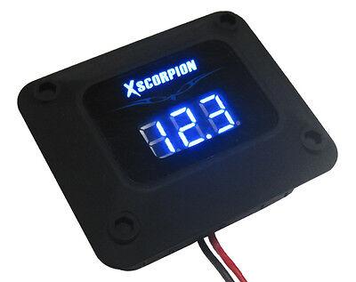 Digital 12v Blue Led Voltage Volt Meter Amp Car Battery Black Finish Car Audio +