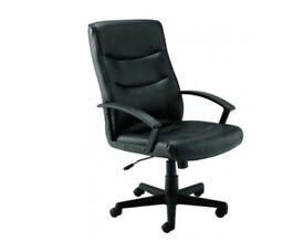 BNIB: Office Swivel Chair Black TC Canasta II CH0768 RRP£126.89 Leather-Look Chair