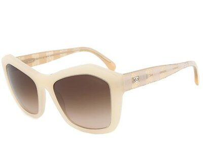 Chanel Womens Sunglasses 5296 1486/S5 Beige Lace Frame Italy New Authentic
