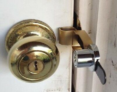 Travel with Calslock Portable Door Lock -Key Locking Device.Home, Dorm,Travel.